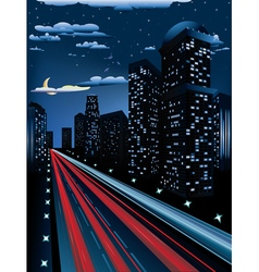 Night City Road3 vector image