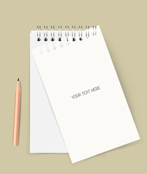 Note book with pencil Business working elements vector