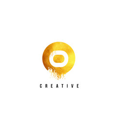 O gold letter logo design with round circular vector