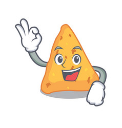 Okay nachos character cartoon style vector