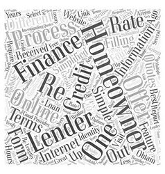 Online Re Financing Word Cloud Concept vector