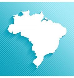 Paper map brazil vector