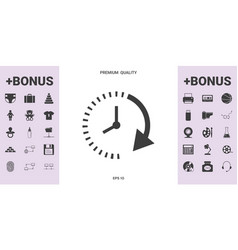 Passage of time icon - graphic elements for your vector