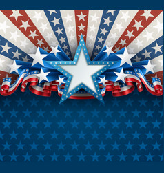 patriotic american background with star vector image