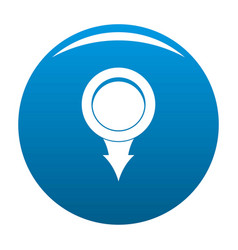 Point icon blue vector