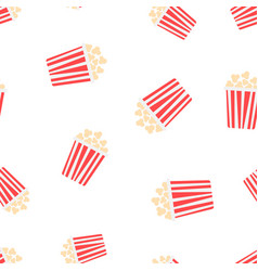 popcorn icon seamless pattern background business vector image