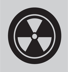 Radiation Symbol icon vector image