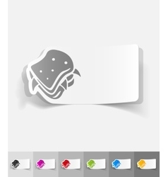 realistic design element sandwich vector image