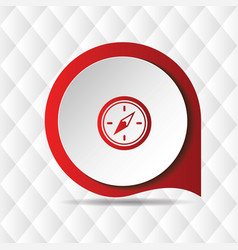 Red compass icon geometric background image vector