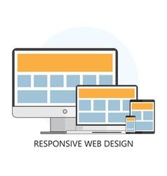 Responsive Web Design Icon vector