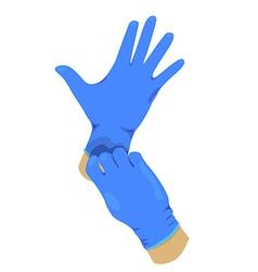 Rubble glove vector