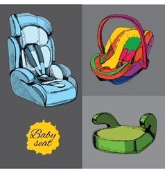 Set baby seat for car All categories infant vector