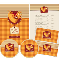 set design elements for pizzeria vector image