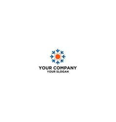 Simple hvac logo design vector