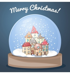 snow globe with a house vector image