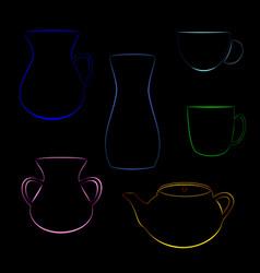 Tableware color vector