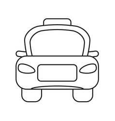 Taxi car public vehicule thin line vector