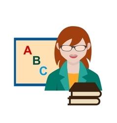 Teacher Female vector image