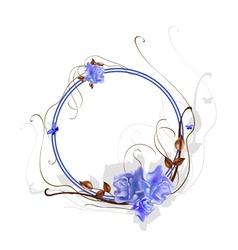 vector illustraition of elegant floral frame with vector image vector image