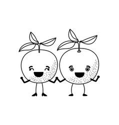 White background of monochrome pair of orange vector