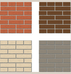 white red brown gray brick wall pattern vector image