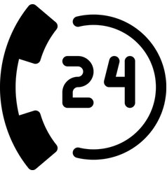 24 hours call vector image