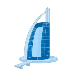 Hotel Burj Al Arab in United Arab Emirates icon vector image