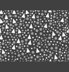 seamless pattern with christmas trees vector image