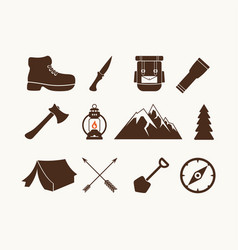 set of camp elements vector image vector image