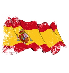 Spain Flag Grunge vector image