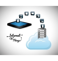 Tablet internet of things design vector