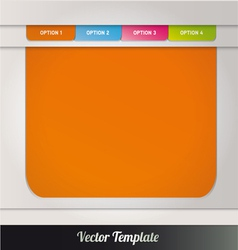Web page template vector image