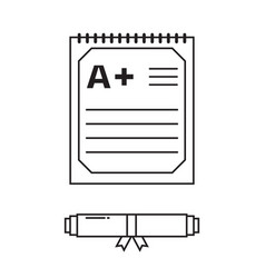 diploma certificate icon vector image
