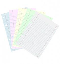 school papers vector image vector image