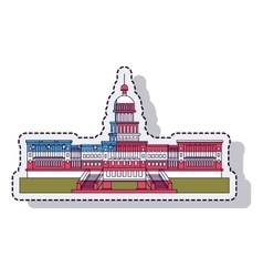 usa capitol building isolated vector image