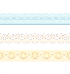guilloche borders pattern for currency vector image