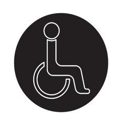 Handicap symbol icon vector image