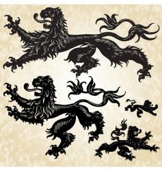 lions set vector image vector image