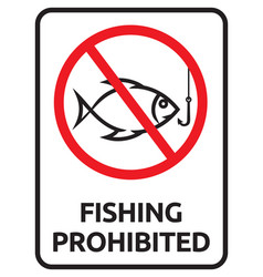 prohibited fishing vector image vector image