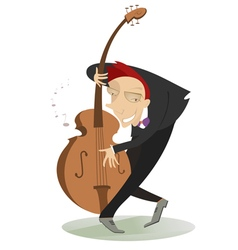 Smiling cellist vector image vector image