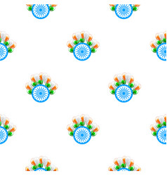 independence day india creative seamless pattern vector image vector image
