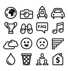 Internet application tchnology stroke line icon vector image vector image