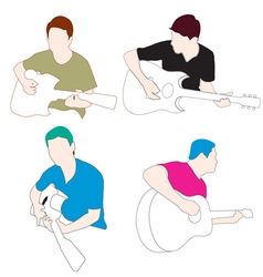man play guitar vector image vector image