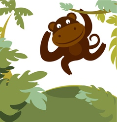 Monkey in forest vector