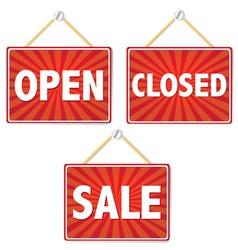 Retail Shop Signs vector image vector image