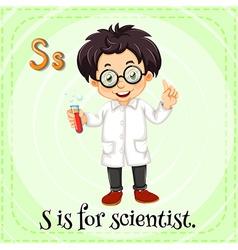 Scientist vector image