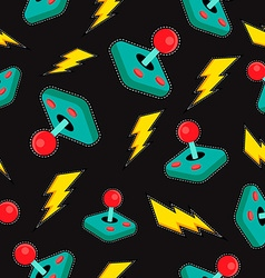 Seamless background with retro video game icons vector image vector image