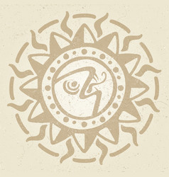 vintage ancient mexican mythology symbol - vector image