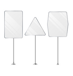 Advertising outdoor signs blank set vector