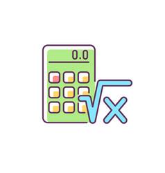 Algebra rgb color icon vector